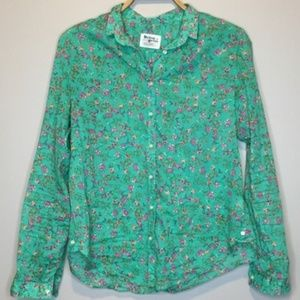 Anthropologie Holding Horses floral shirt